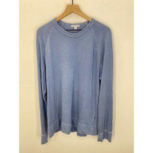 James Perse Crew Neck Long Sleeve Sweatshirt Blue